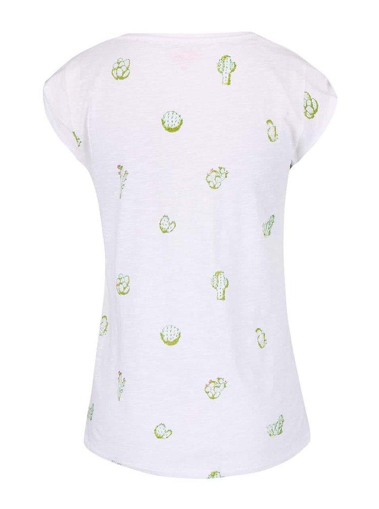 Bílé triko s potiskem Only Chloe