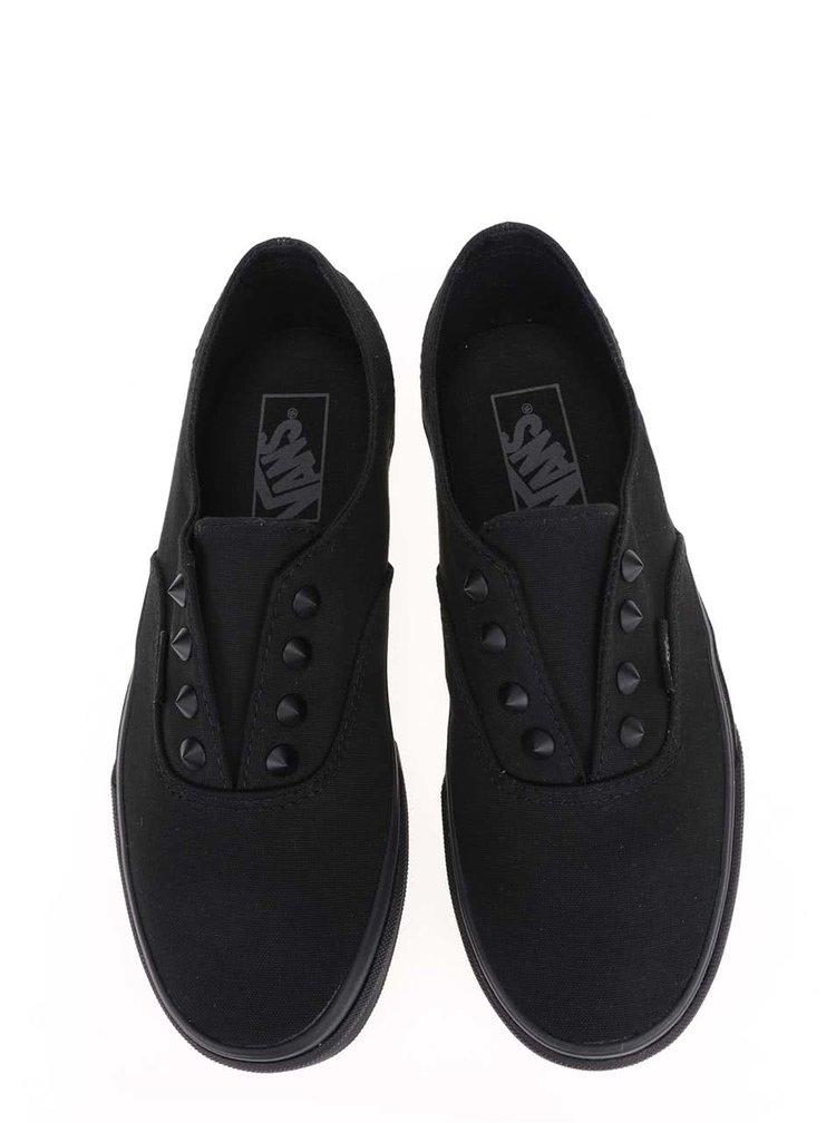 Čierne unisex tenisky Vans Authentic