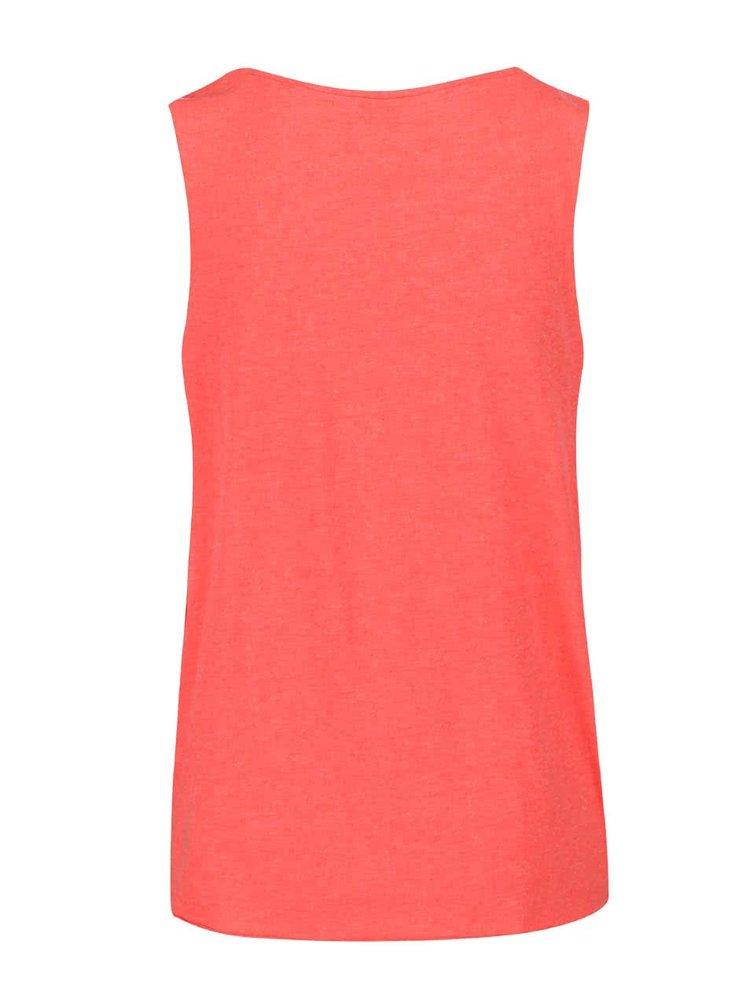 Ružové tričko bez rukávov s potlačou VERO MODA Julie