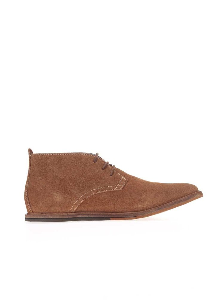 Hnědé kožené kotníkové boty Frank Wright Strachan