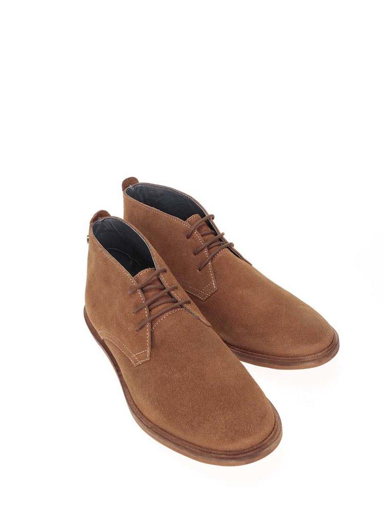 Pantofi din piele Frank Wright Strachan maro