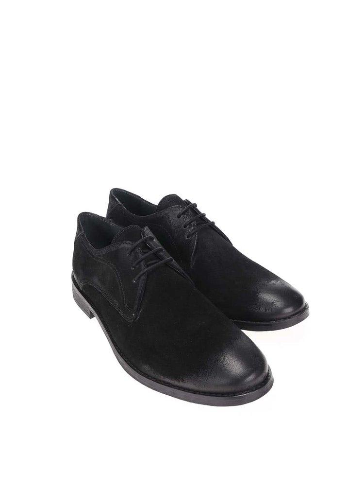Pantofi Frank Wright Stringe din piele negri