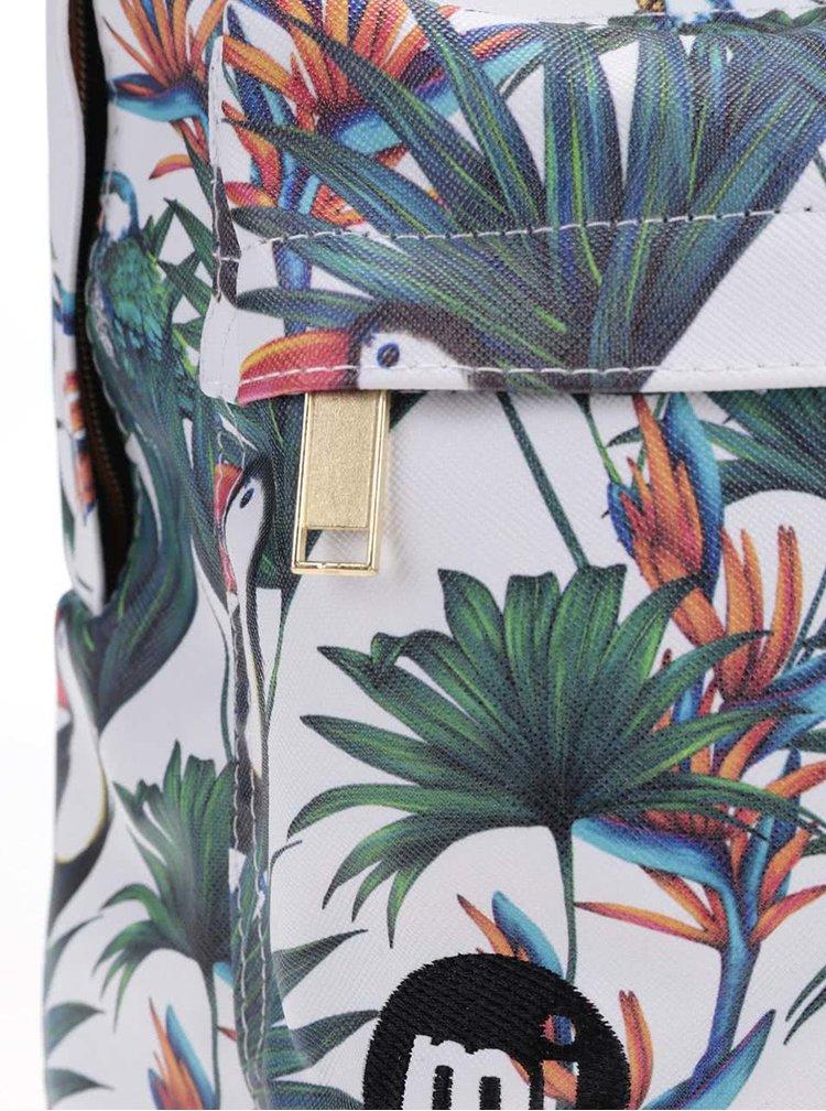 Biely batoh s tropickým vzorom Mi-Pac Ultraviolet Jungle 17 l