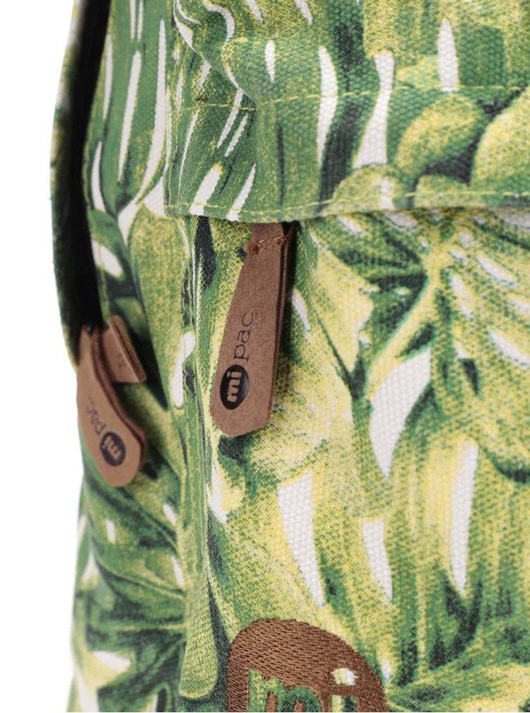 Zelený batoh s tropickým lístím Mi-Pac Fern