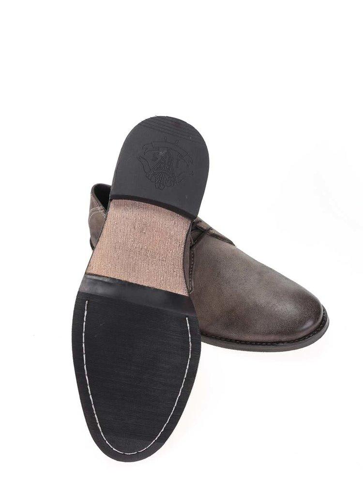Pantofi Frank Wright Stringer din piele kaki