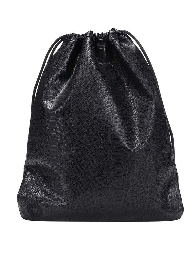 Černý vak s hadím vzorem Mi-Pac Kit Bag Python