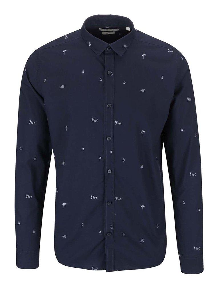 Tmavě modrá košile s potiskem ONLY & SONS Harrold
