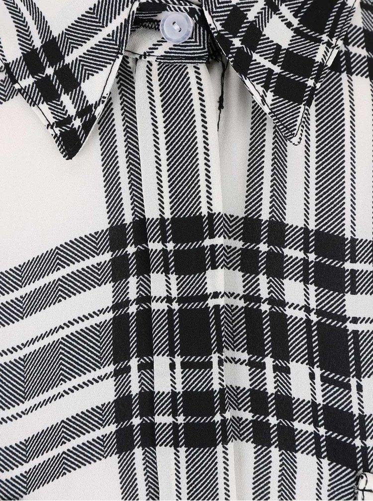 Krémovočerná delší kostkovaná košile Dorothy Perkins