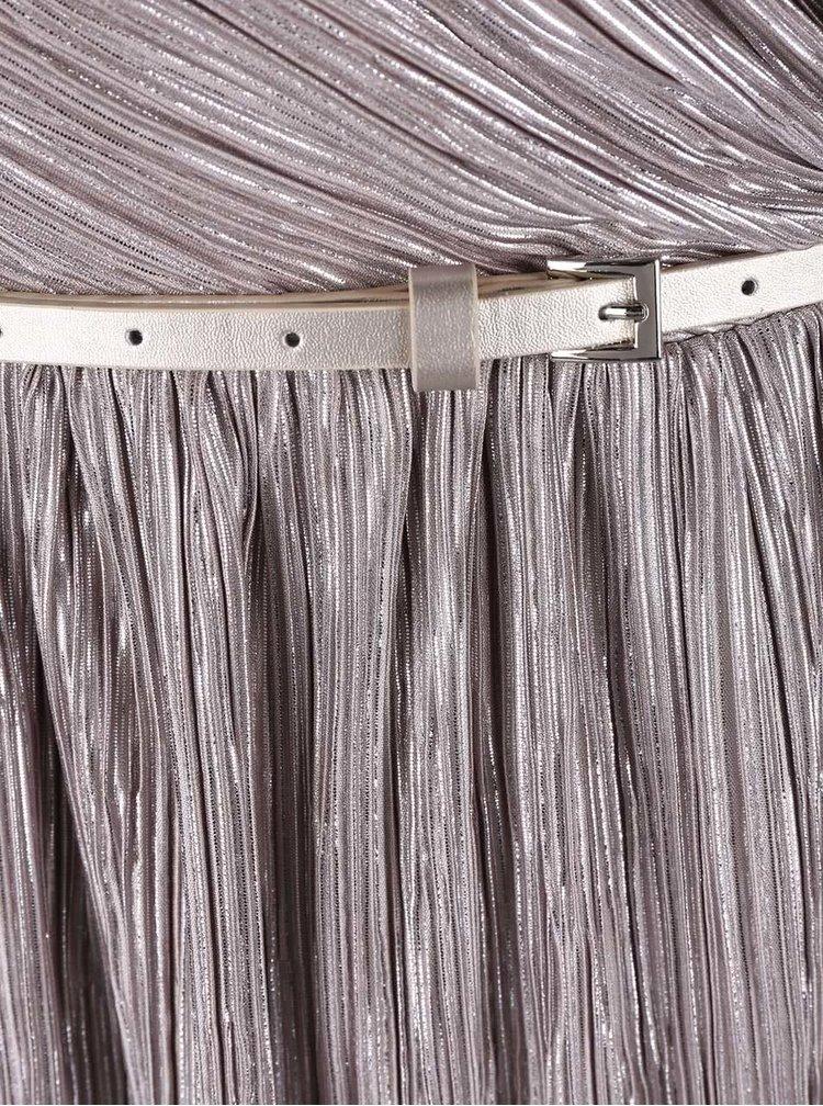 Šaty ve stříbrné barvě bez rukávů Dorothy Perkins