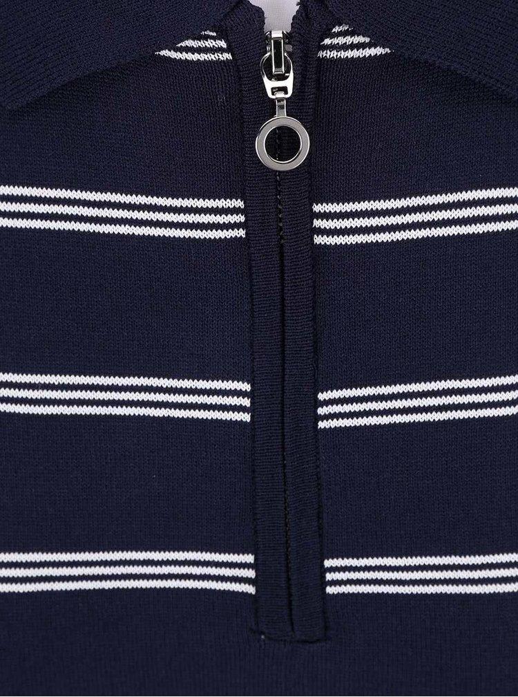 Tmavomodré pruhované tričko bez rukávov Dorothy Perkins