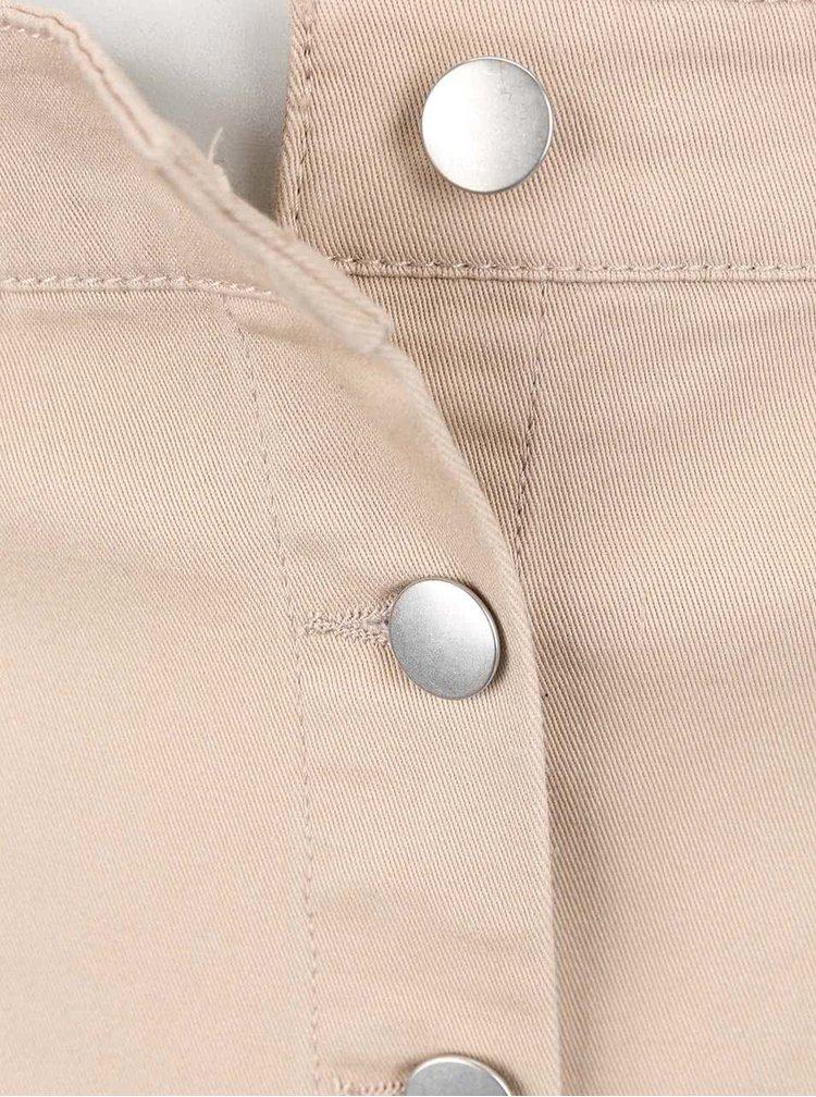 Béžová sukňa na gombíky Dorothy Perkins