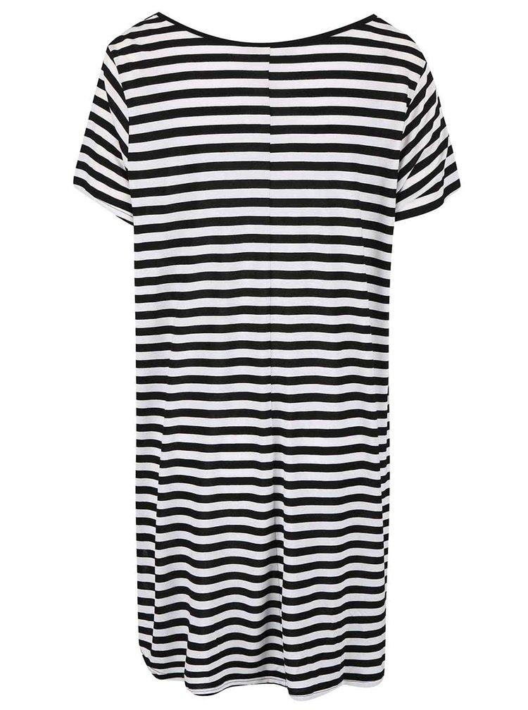 Černé pruhované delší tričko Dorothy Perkins Curve