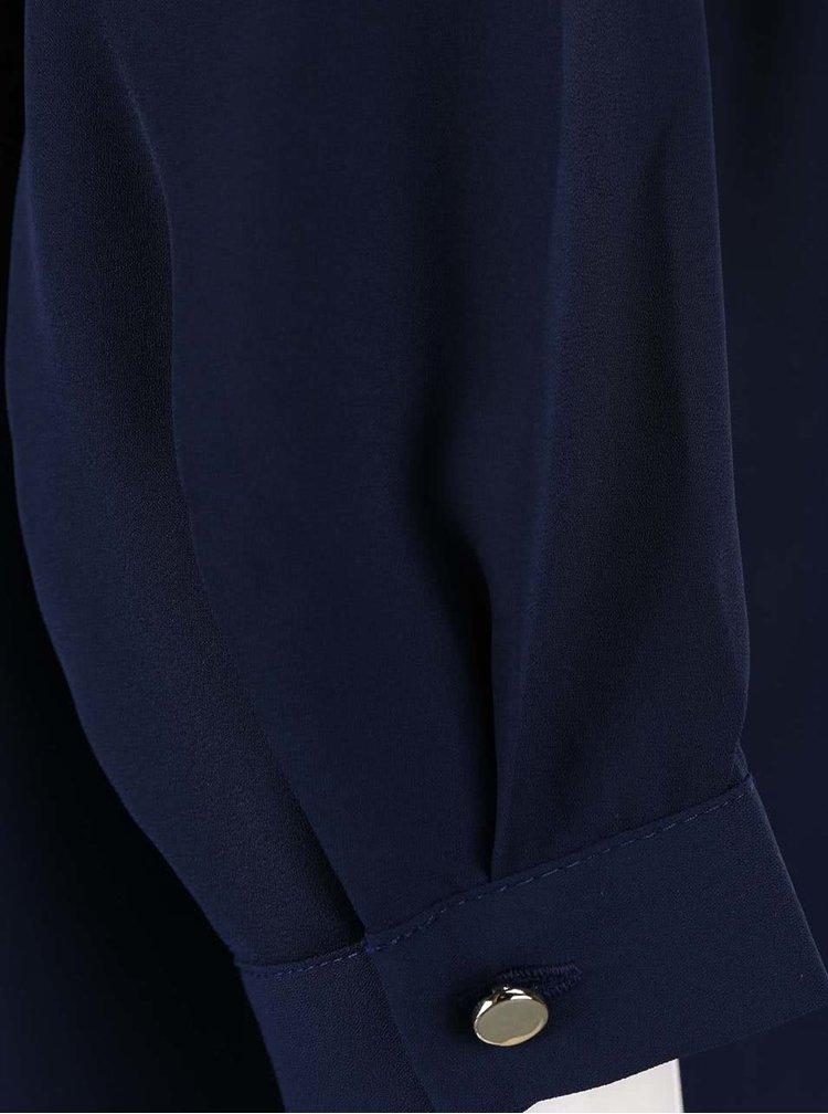 Tmavě modrá halenka se zipem ve zlaté barvě Dorothy Perkins Curve