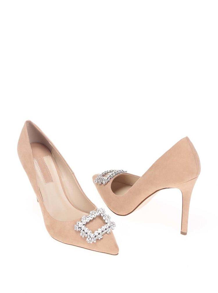 Pantofi Dorothy Perkins bej, cu detaliu