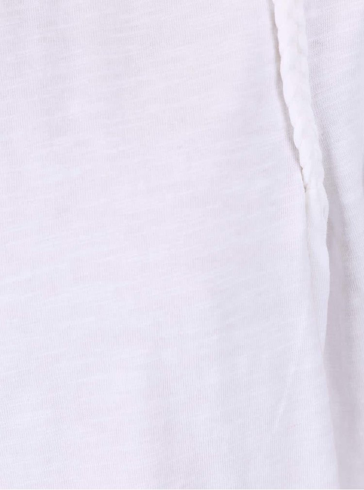 Biely dievčenský top s krátkym rukávom name it Galuna
