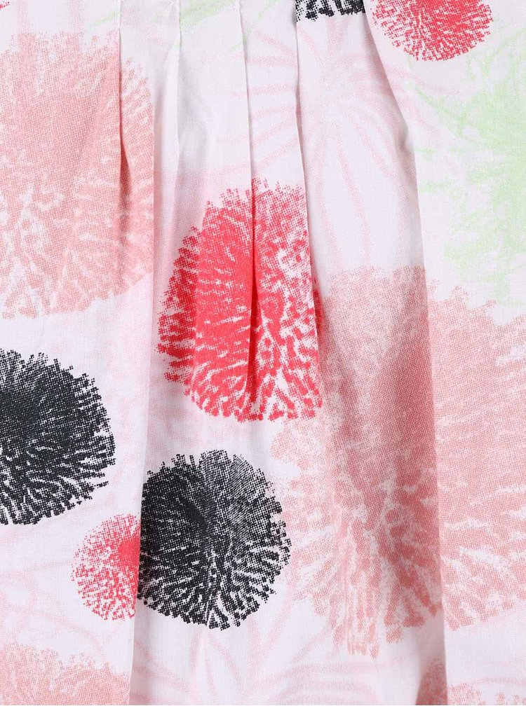 Biele dievčenské šaty s farebnými škvrnami name it Tvalaia