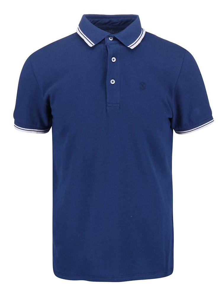 Tricou Polo Casual Friday by Blend albastru