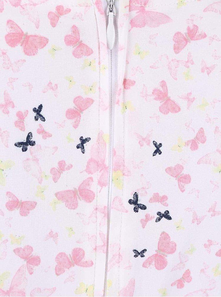 Biele dievčenské šaty s farebnými motýlikmi name it Valaia