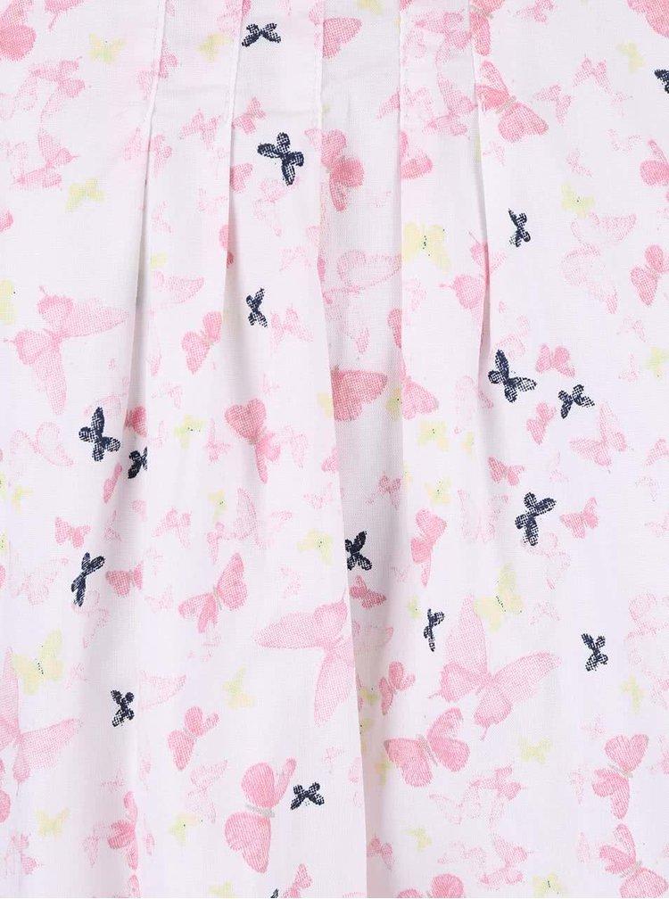 Bílé holčičí šaty s barevnými motýlky name it Valaia