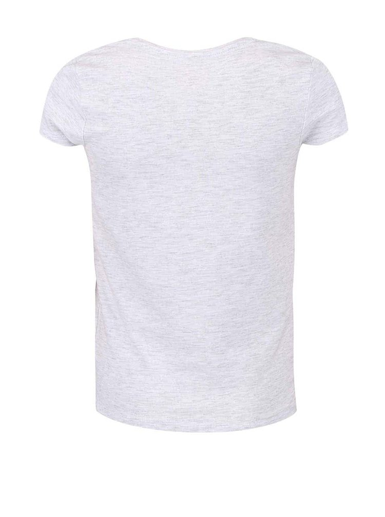 Sivé dievčenské flitrované tričko name it Geogina