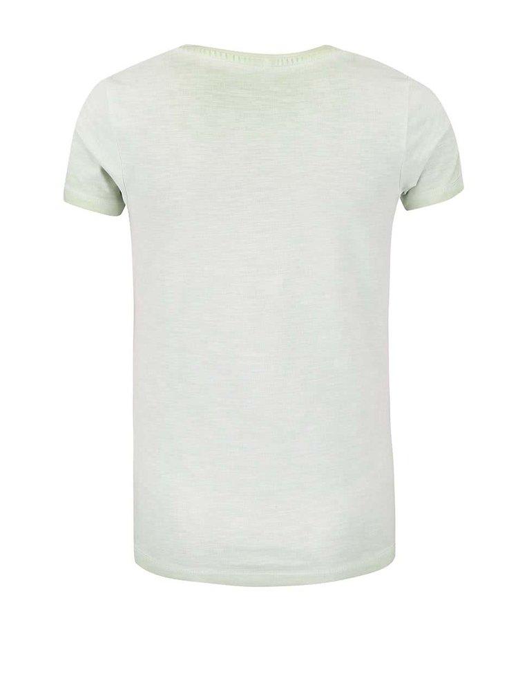 Zelené dievčenské žíhané tričko name it Gilu