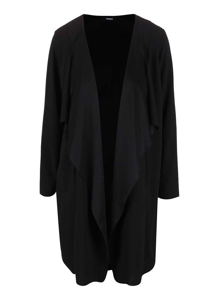 Černý lehký kabát Alchymi Cordierite
