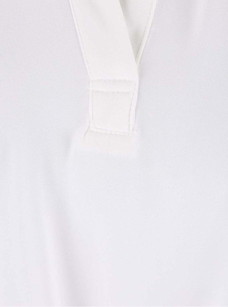 Bílá volnější halenka s dlouhým zadním dílem Alchymi Maia
