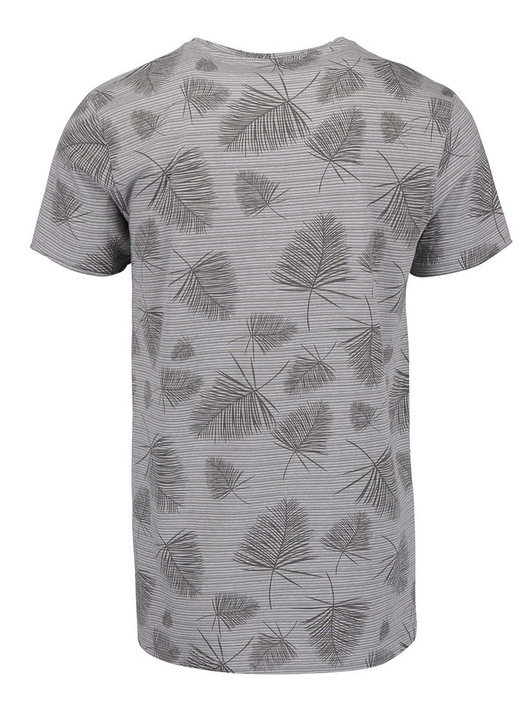 Sivé pánske vzorované tričko Broadway Ewen