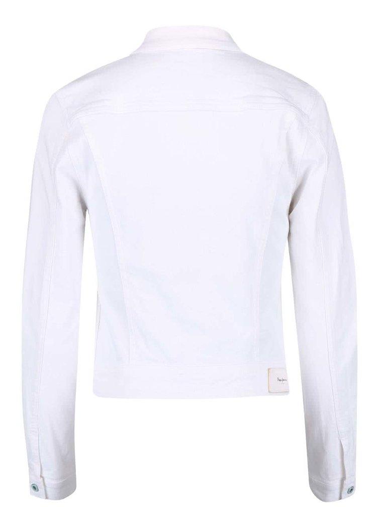 Geacă Pepe Jeans albă din denim
