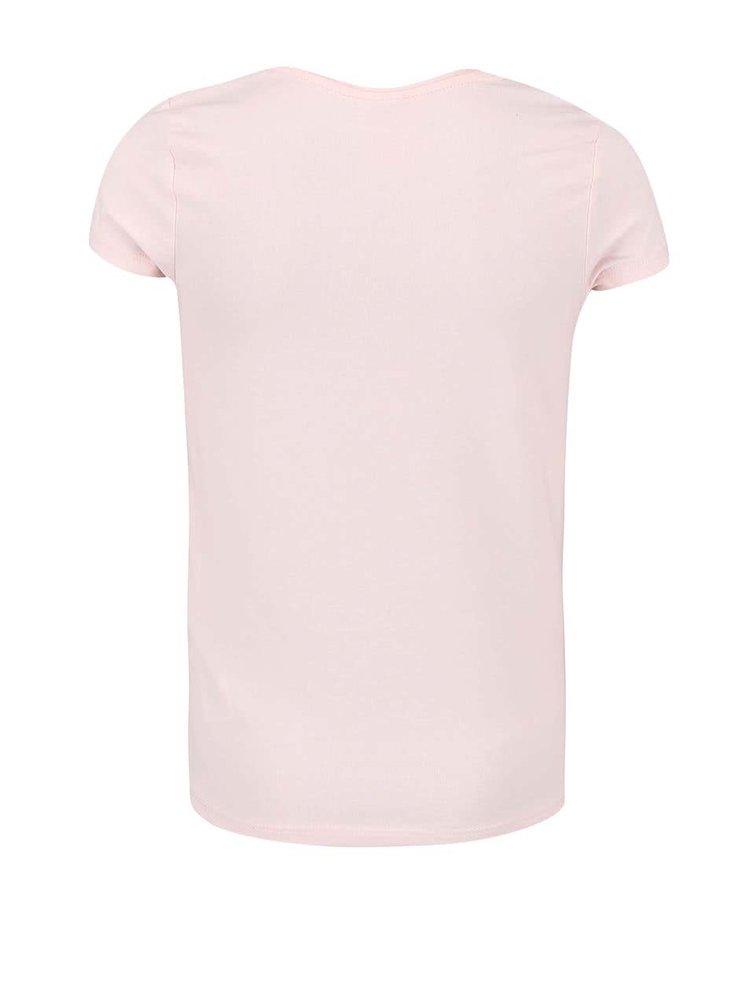 Svetloružové dievčenské tričko name it Geogina