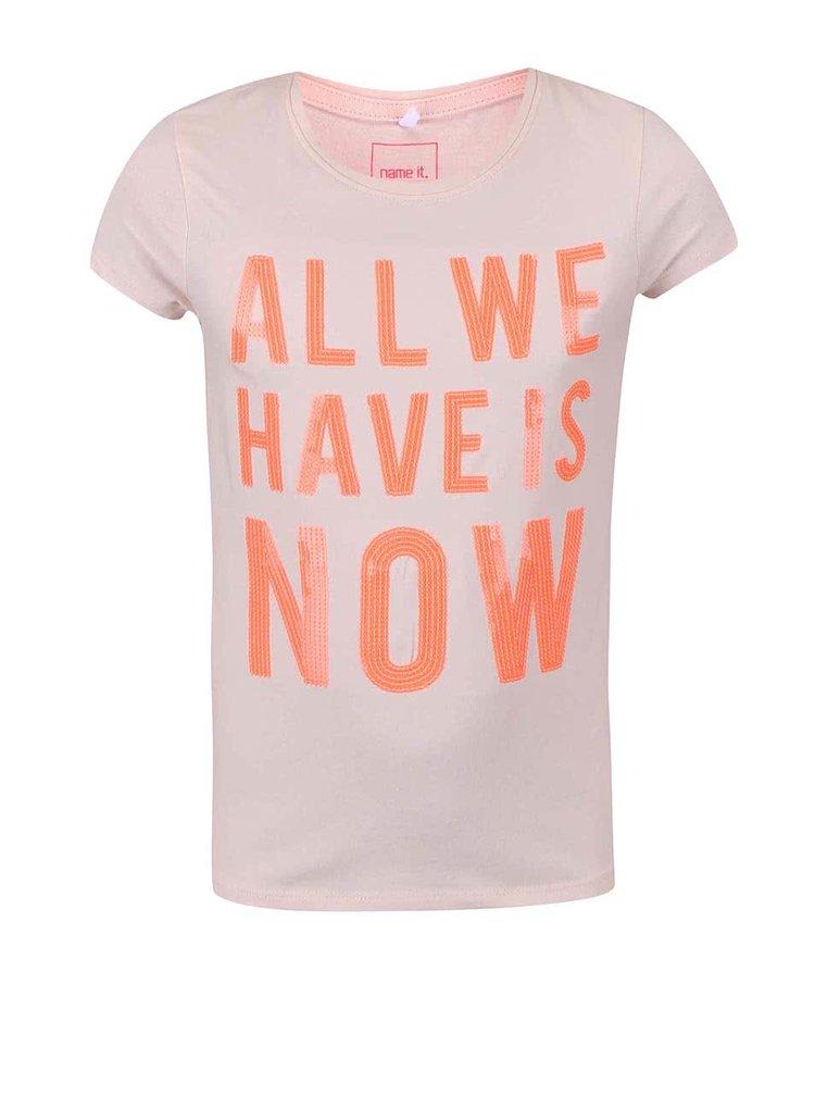 Světle růžové holčičí triko name it Geogina