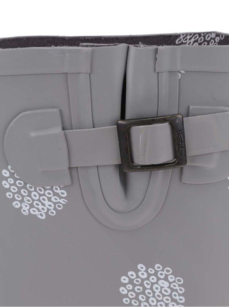 Sivé gumáky so vzorom Brakeburn Polka