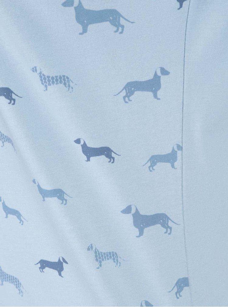 Svetlomodré tričko s 3/4 rukávmi Brakeburn Sausage Dog