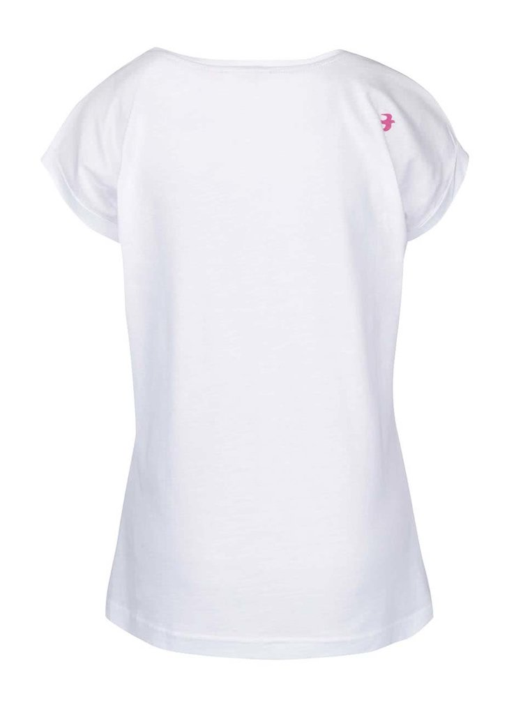 Biele tričko s potlačou Brakeburn Anchor