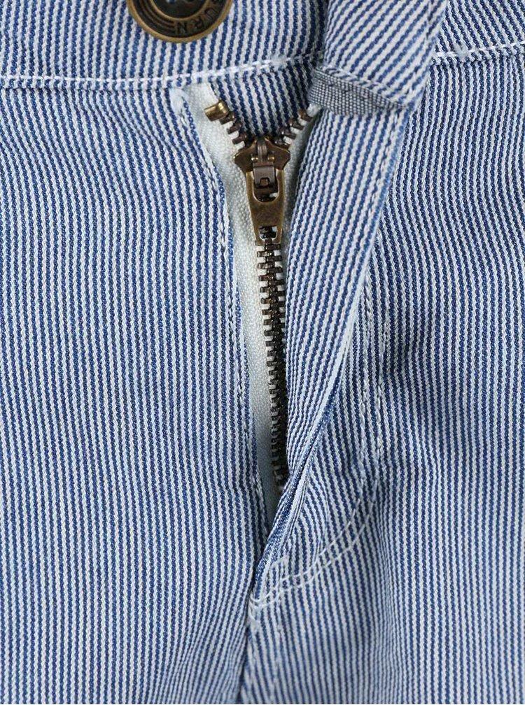 Modré pruhované kraťasy Brakeburn Fine