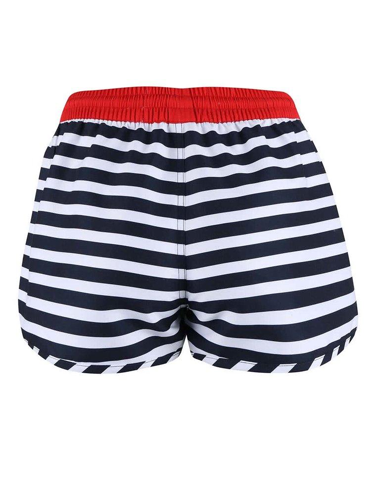 Pantaloni scurți Brakeburn Striped alb cu negru