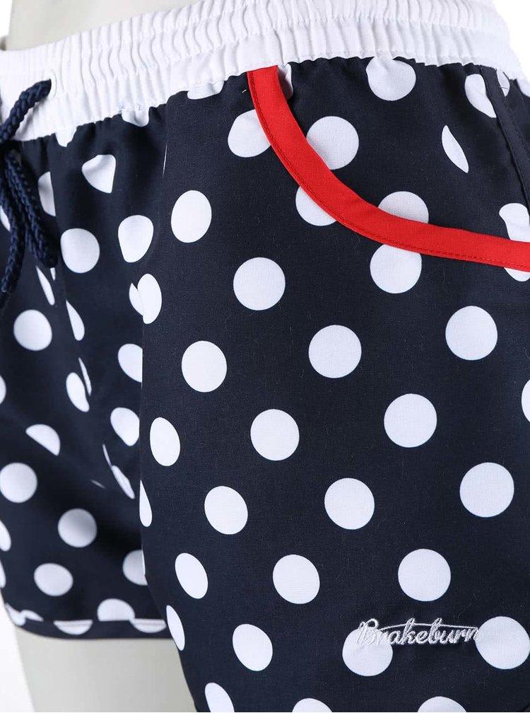 Tmavomodré bodkované šortky Brakeburn Polka