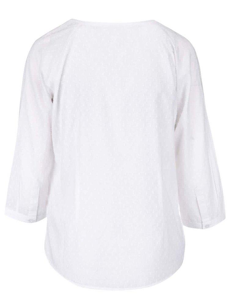 Biela blúzka s 3/4 rukávmi Brakeburn Pintuck