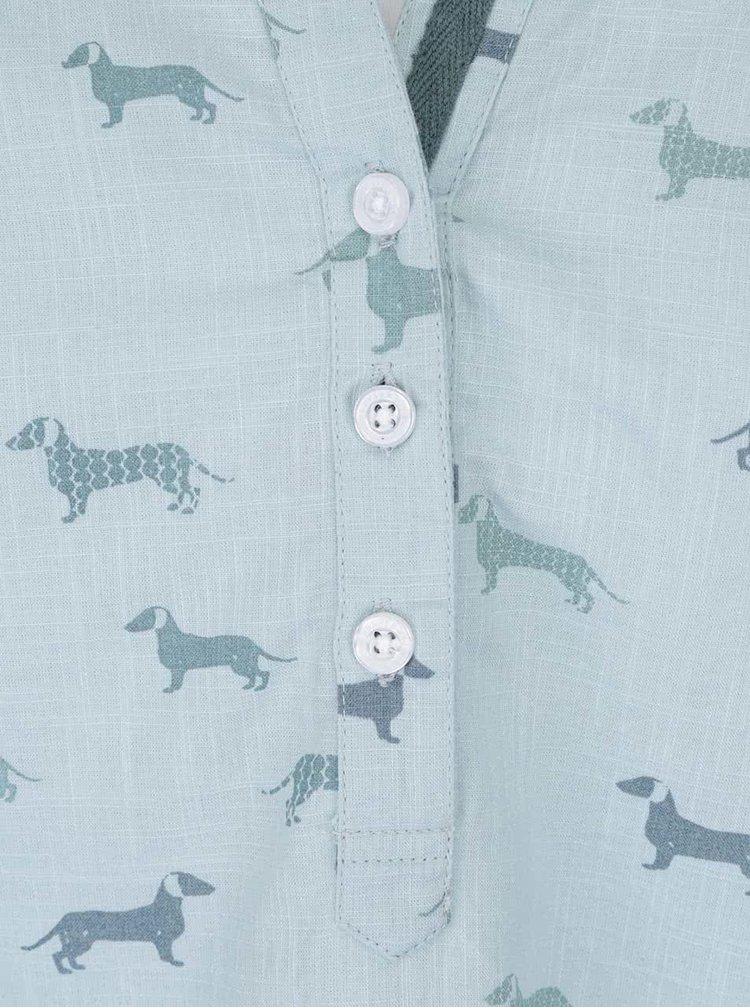 Bluză Brakeburn Sausage Dog albastru pal