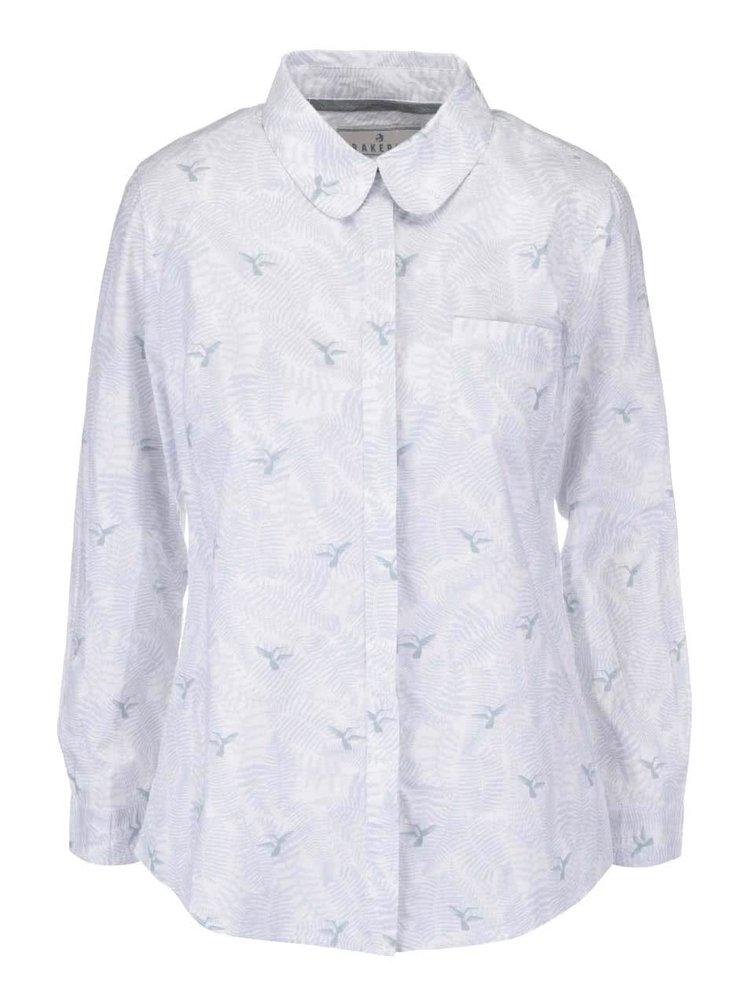 Bílé košile s potiskem kolibříků Brakeburn Hummingbird