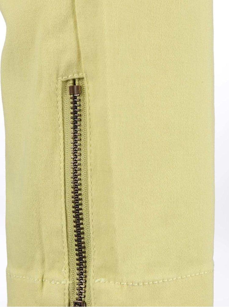 Pantaloni Brakeburn Zip Hem galben pal