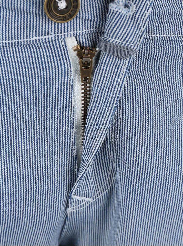 Modré pruhované chino nohavice Brakeburn Fine