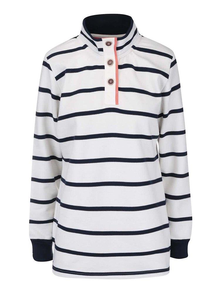 Bluza Brakeburn Stripe alb, in dungi