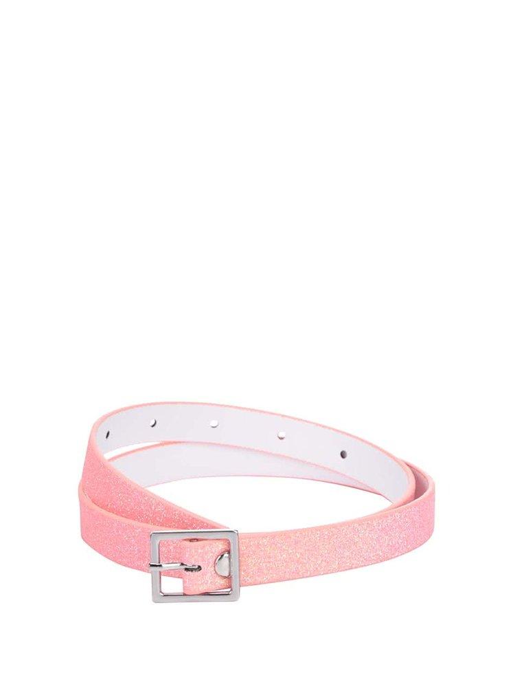 Růžový třpytivý holčičí pásek name it Angilic