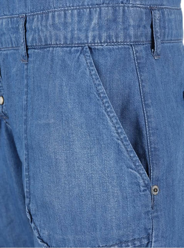 Kraťasový džínový overal Pepe Jeans Ivy