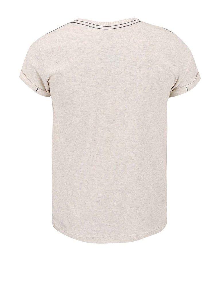 Krémové klučičí triko s potiskem name it Gean