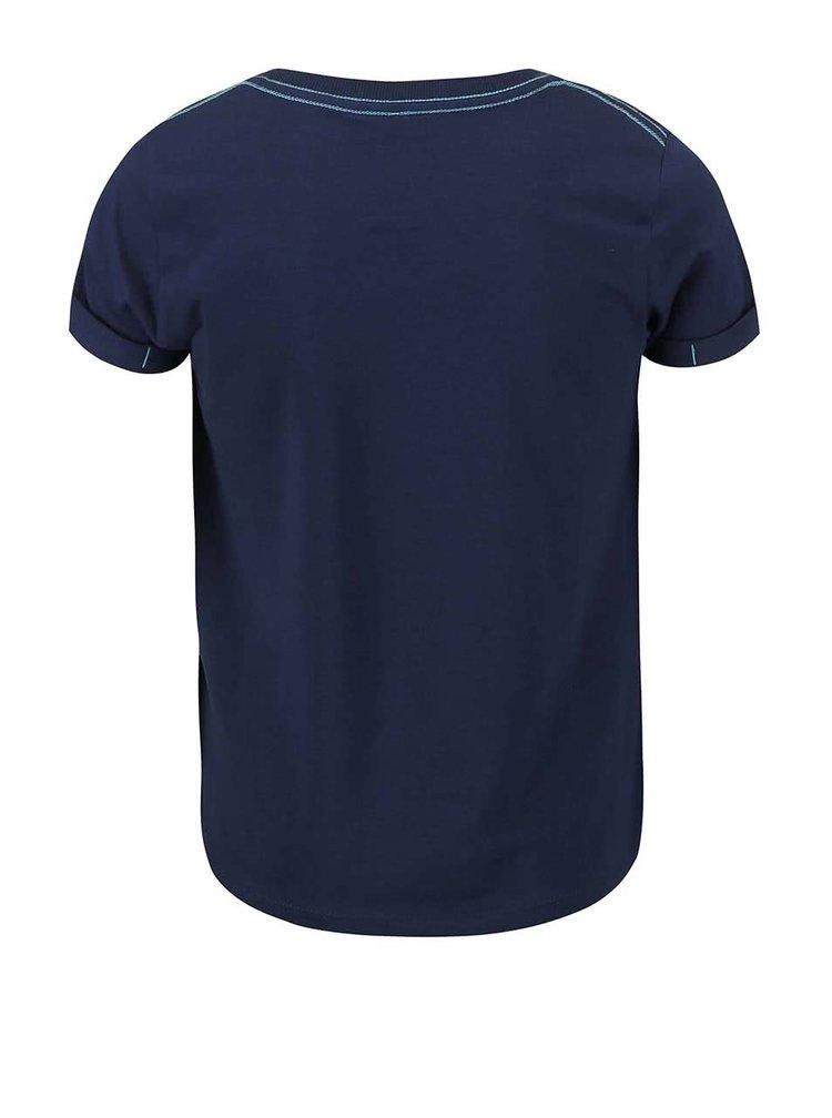 Modré chlapčenské tričko s potlačou name it Gean