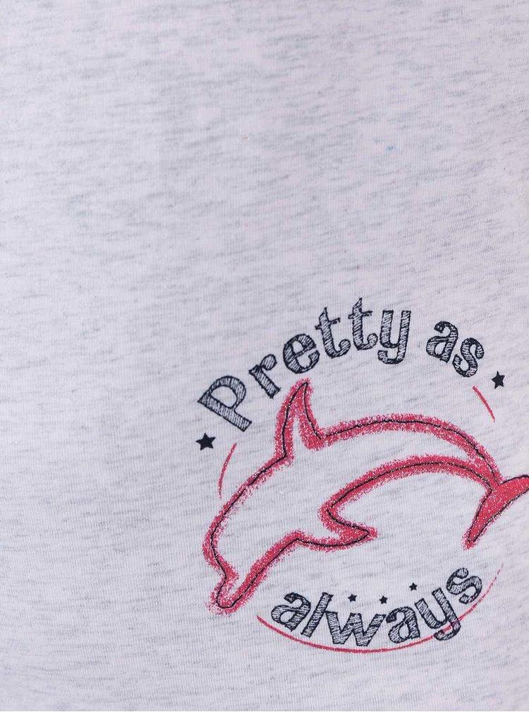 Světle šedé holčičí tričko s delfínem name it Vix