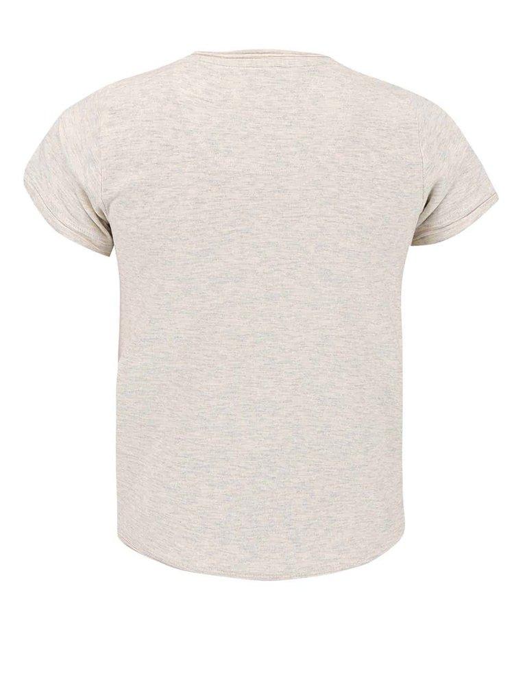 Krémové klučičí tričko s potiskem name it Gohio
