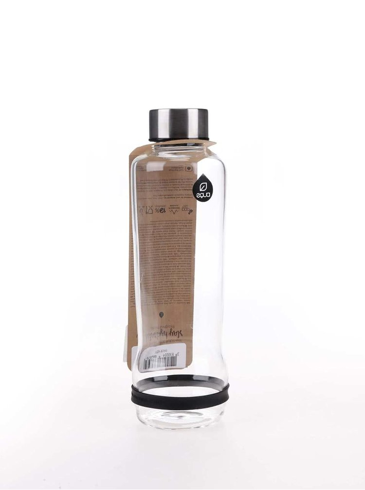 Sticlă EQUA cu dungă neagră (570 ml)